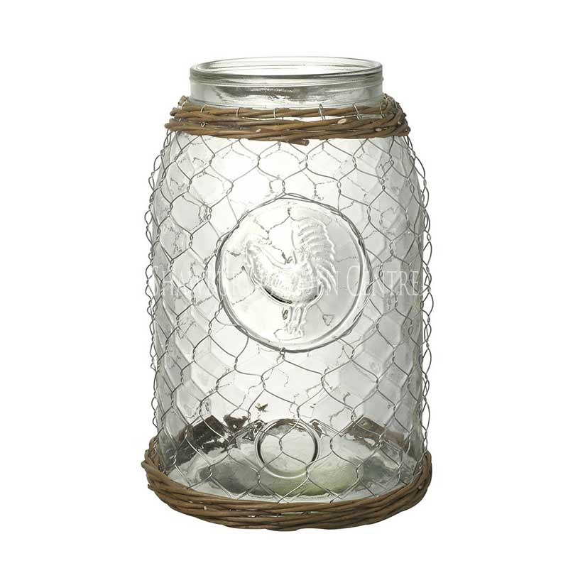 Picture of Parlane Chicken Wire Hurricane Lantern