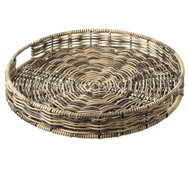Picture of Parlane Poly Rattan Hand Woven Round Tray