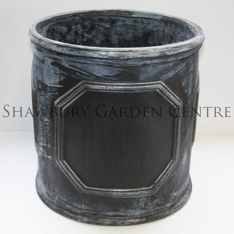 Picture of Naylor Patio Pots Chelsea Cylinder Planter - Aged Lead Effect