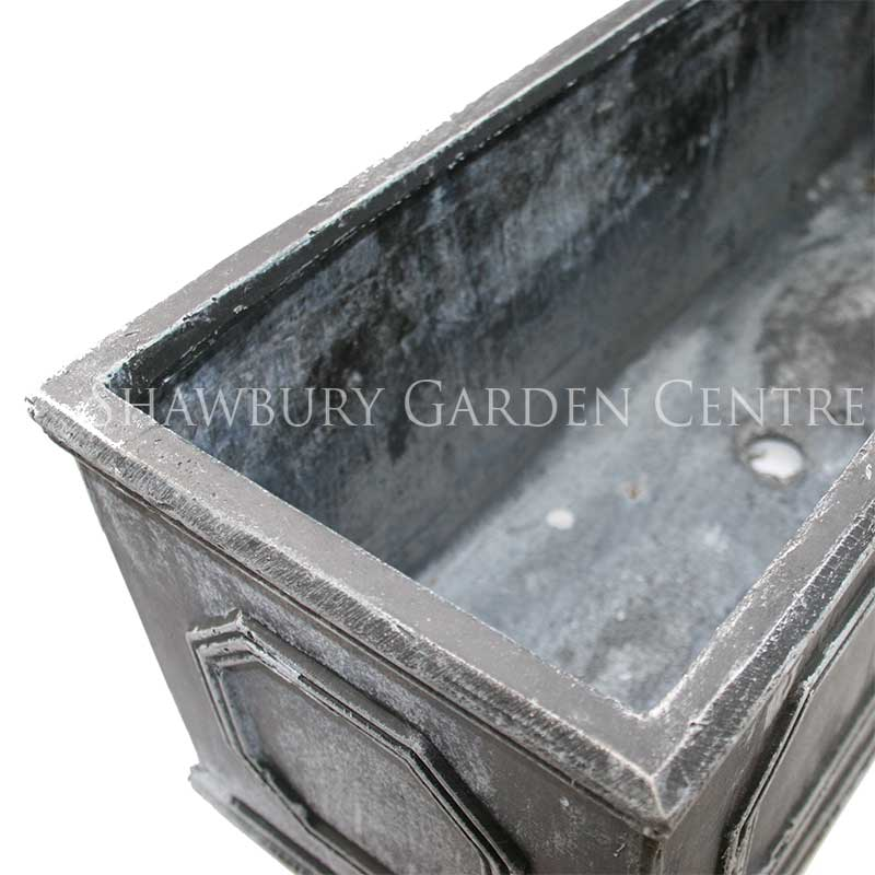 Picture of Naylor Patio Pots Chelsea Trough Planter - Aged Lead Effect