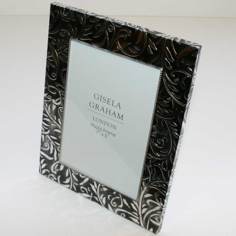 Picture of Gisela Graham Pewter Embossed Metal Picture Frame