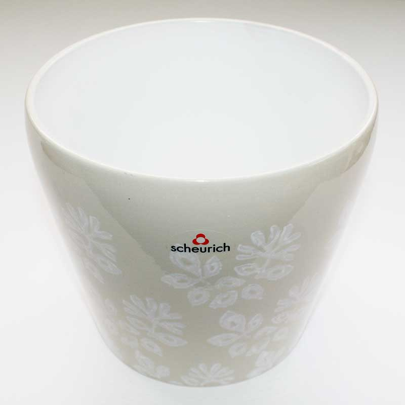 Picture of Scheurich Ivory & White Patterned Ceramic Indoor Pot