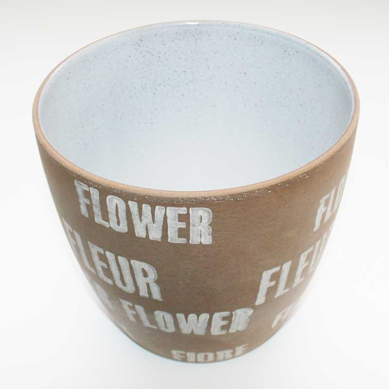 Picture of Scheurich 'Fleur' Earth Indoor Plant Pot Cover