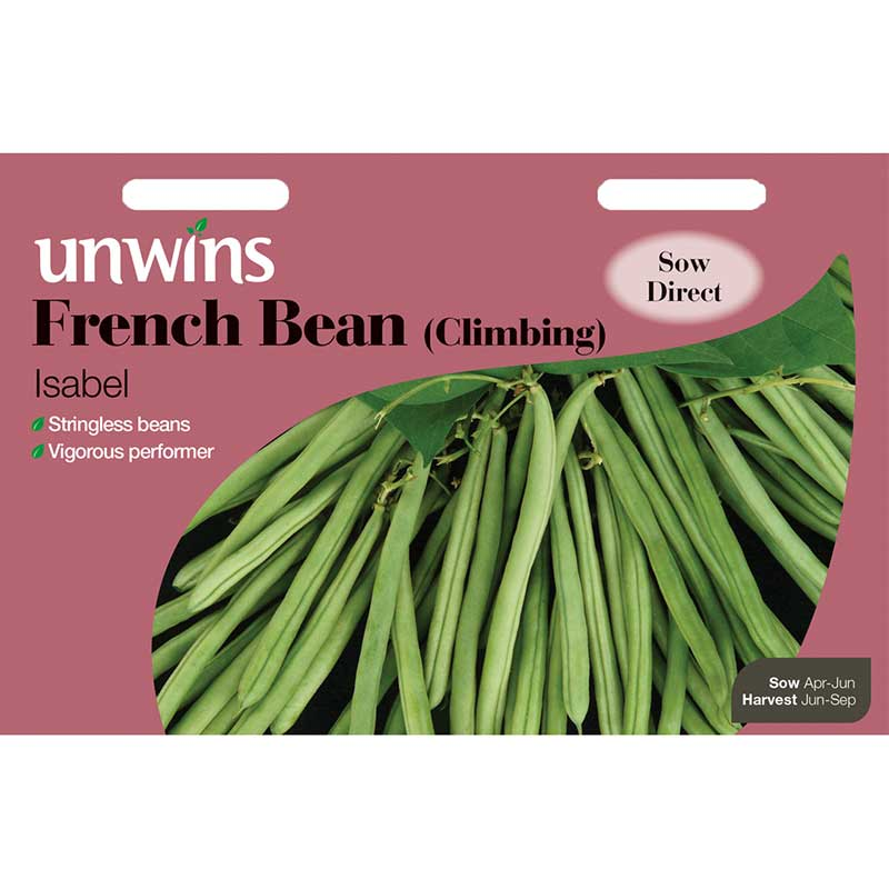 Picture of Unwins 'Isabel' Climbing French Bean Seeds