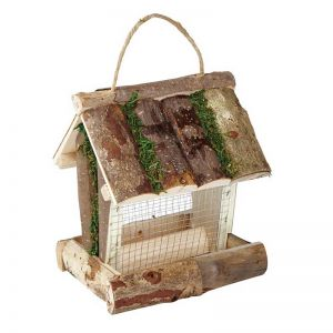 Picture of Gardman Rustic Wooden Bird Peanut Feeder