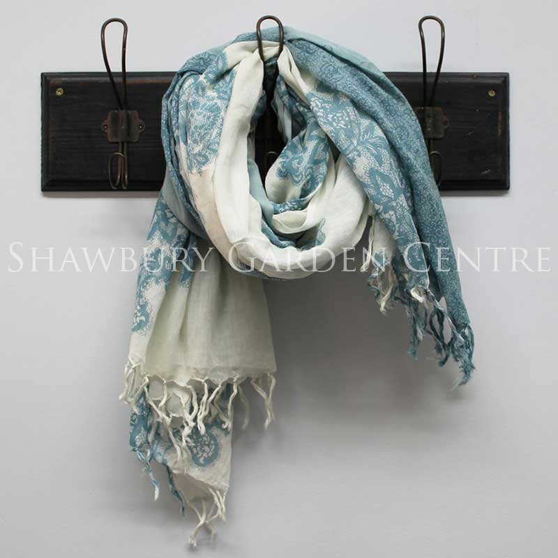 Picture of Blue Ombre Cotton Dip Dyed Scarf
