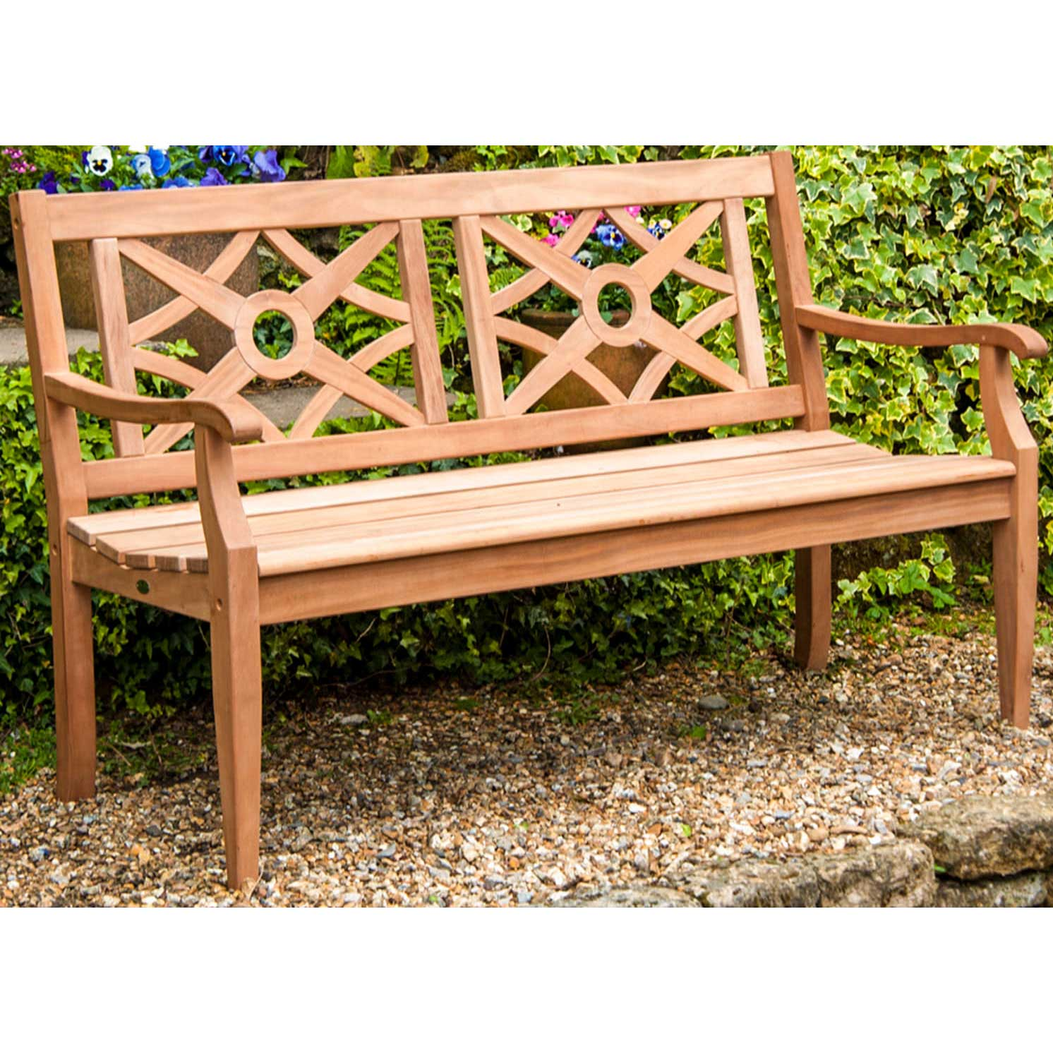 Picture of Alexander Rose Heritage Mahogany 5ft Garden Bench