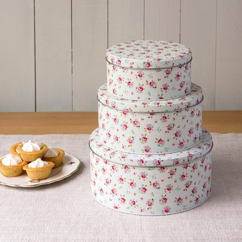 La petite rose set of 3 cake tins for Kitchen set cake
