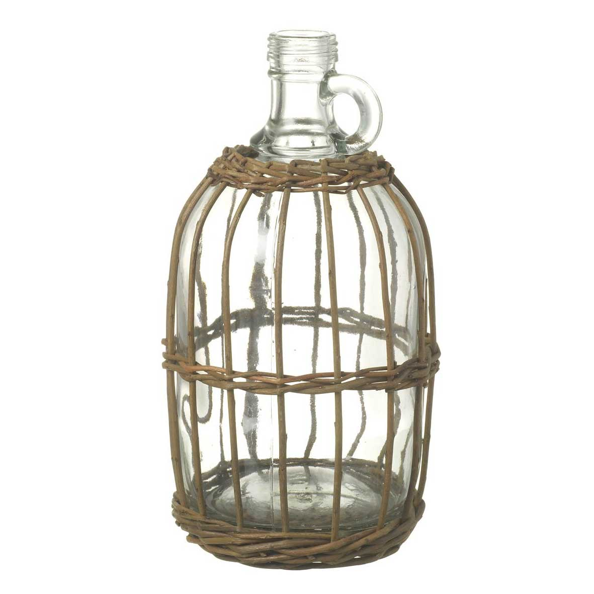 Picture of Glass Flagon with Rattan Surround