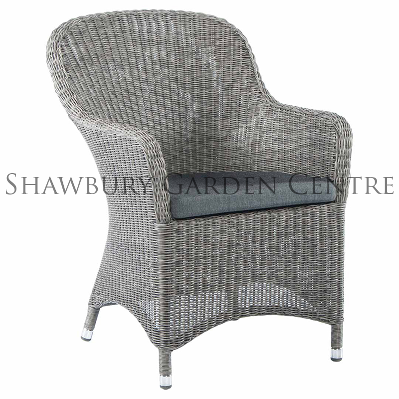 Picture of Alexander Rose Monte Carlo Curved Top Armchair with Cushion