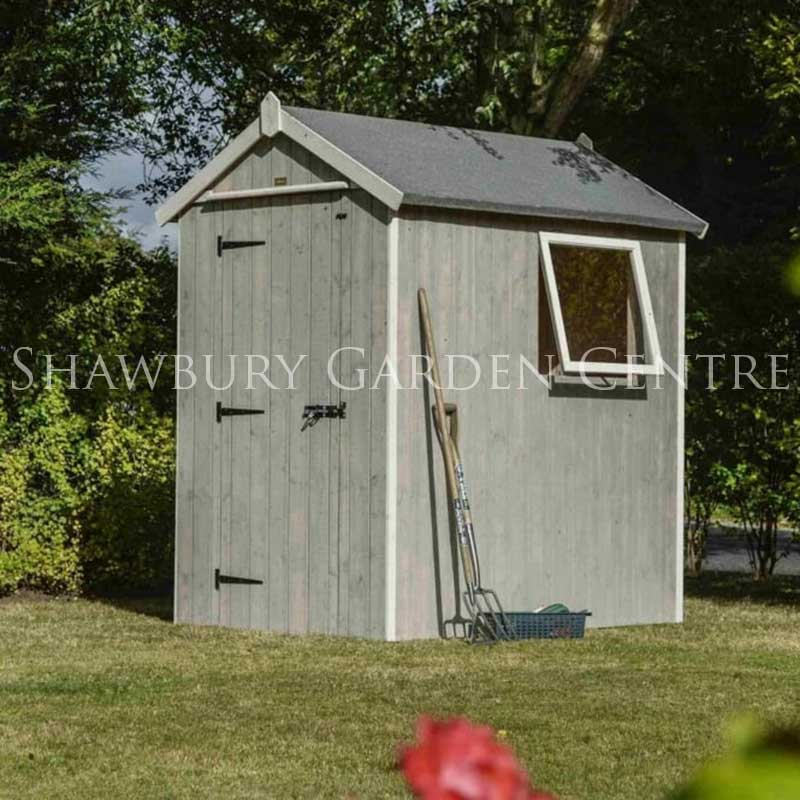 Rowlinson heritage 6 x 4 shed for Garden shed 6 x 4