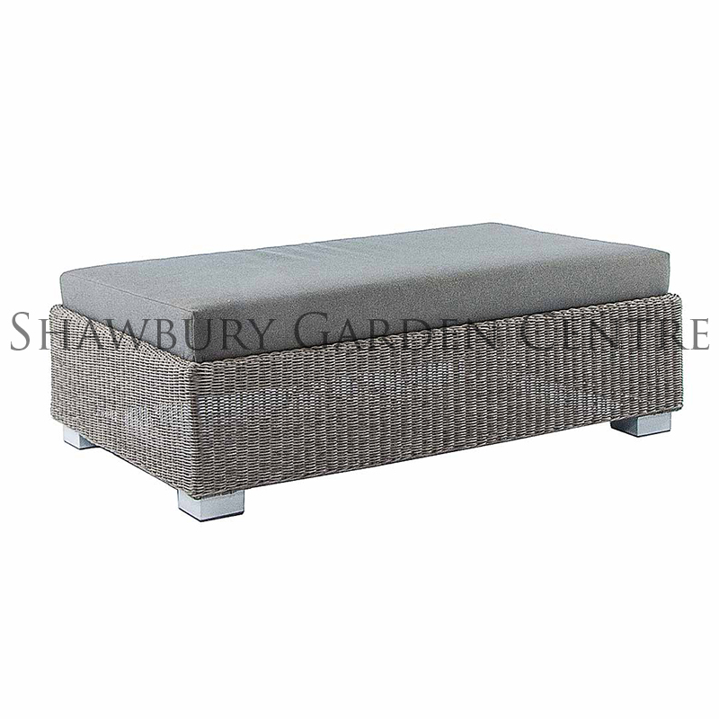 Picture of Alexander Rose Monte Carlo Ottoman with Cushion