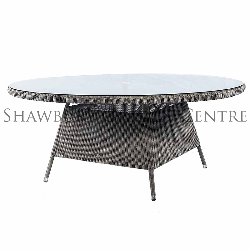 Picture of Alexander Rose Monte Carlo Glass Top Round Garden Table