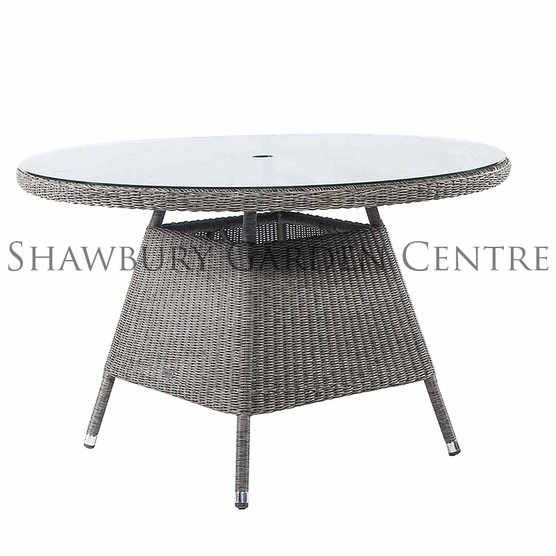 Picture of Alexander Rose Monte Carlo Grey Rattan Round Garden Table