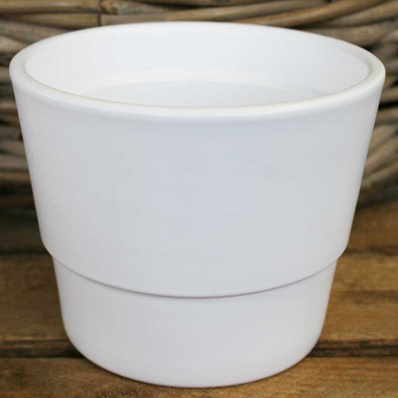 Picture of Matt White Ceramic Plant Pot Cover
