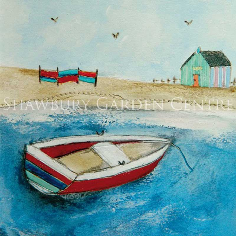 Picture of Green Pebble 'A Sunday Afternoon Boat Ride' by Louise O'Hara - blank inside card