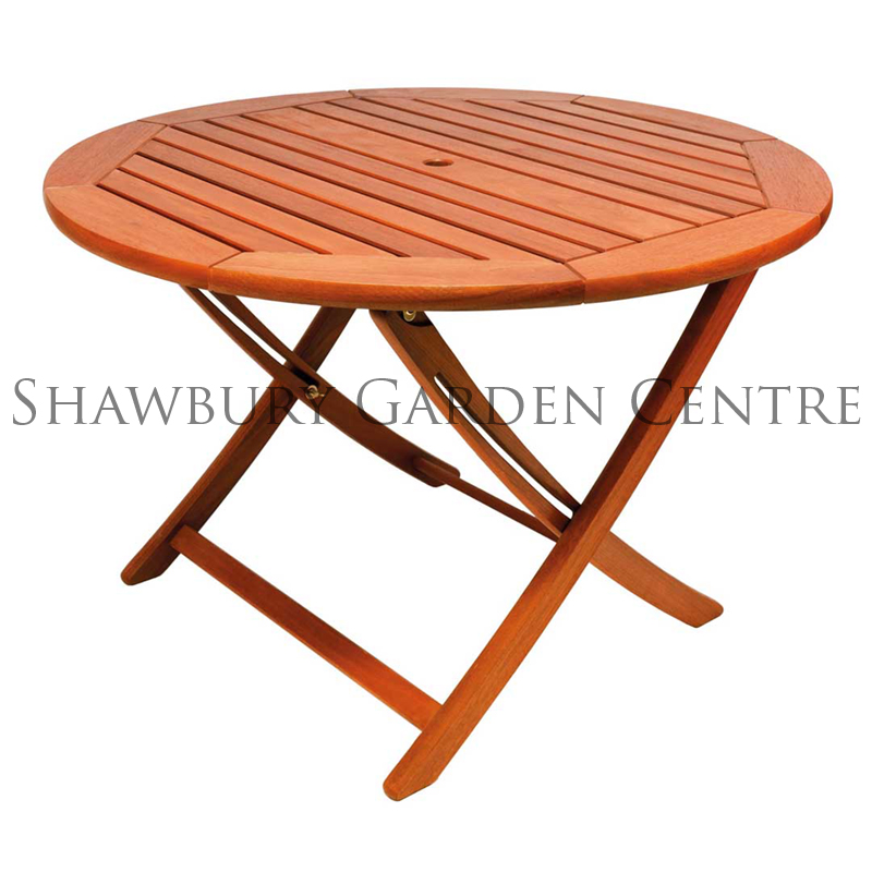 Picture of Alexander Rose Cornis Hardwood Folding Table: 1.1m