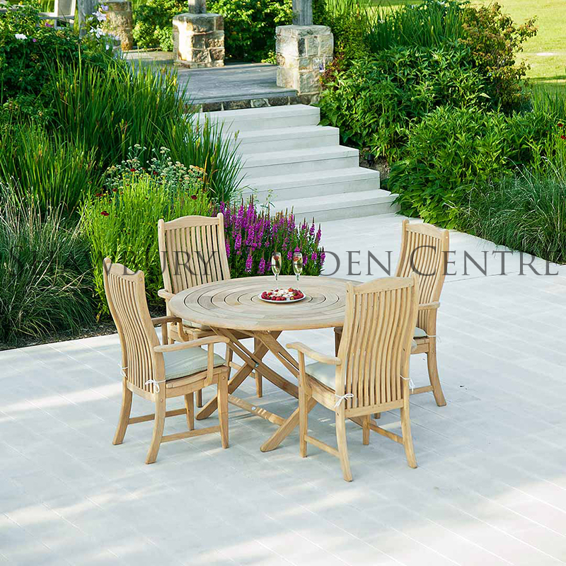 Picture of Alexander Rose Roble Bengal Folding Table: 1.3m