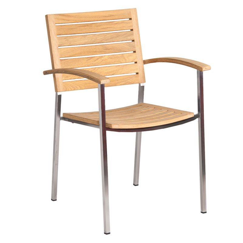 Picture of Alexander Rose Cologne Stacking Armchair with Roble Slats