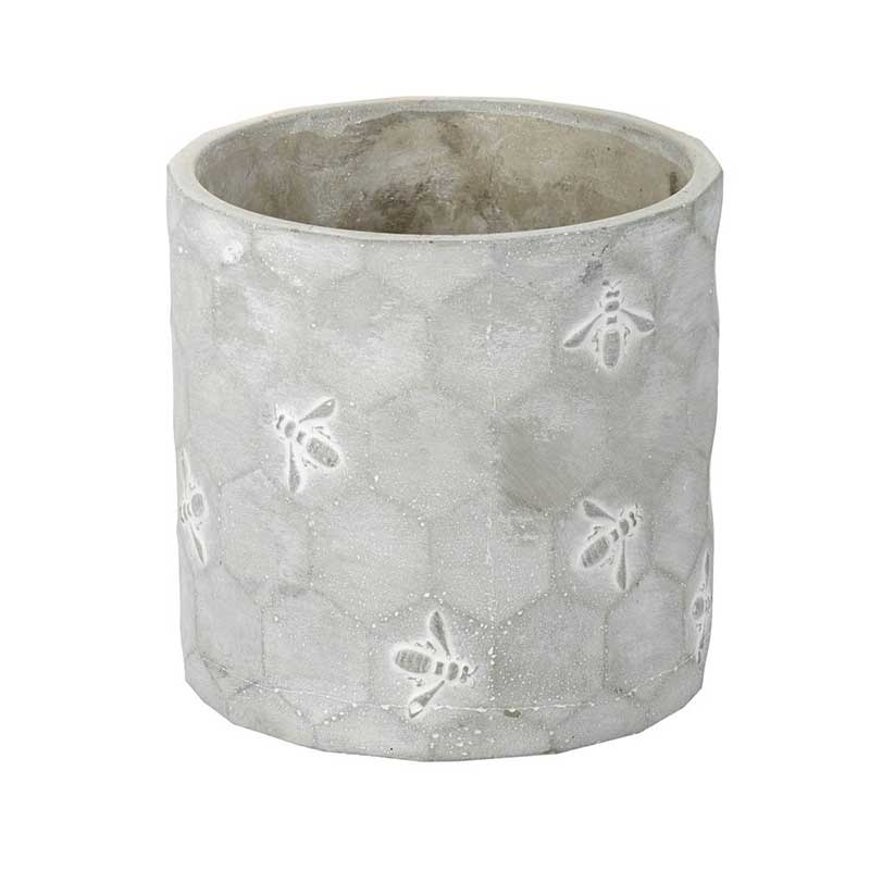 Picture of Parlane Concrete Planter with Honeycomb & Bee Deco