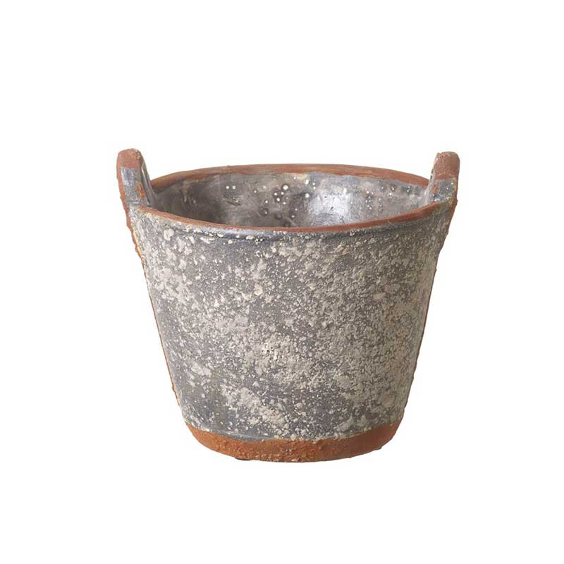 Picture of Parlane Concrete Planter in the Style of a Rusty Bucket
