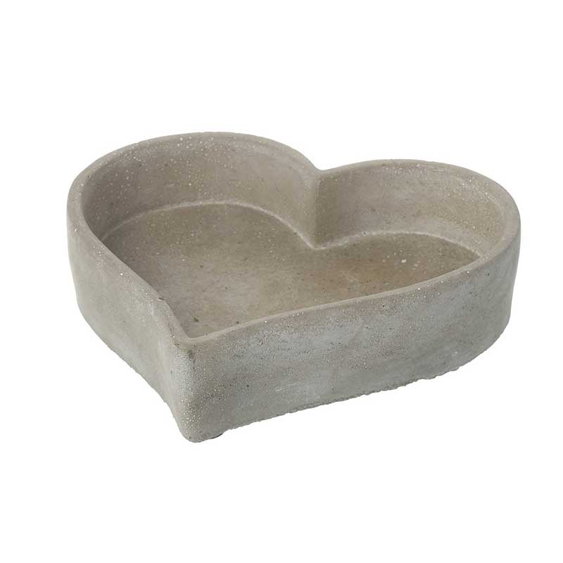 Picture of Parlane Grey Concrete Heart Shape Dish
