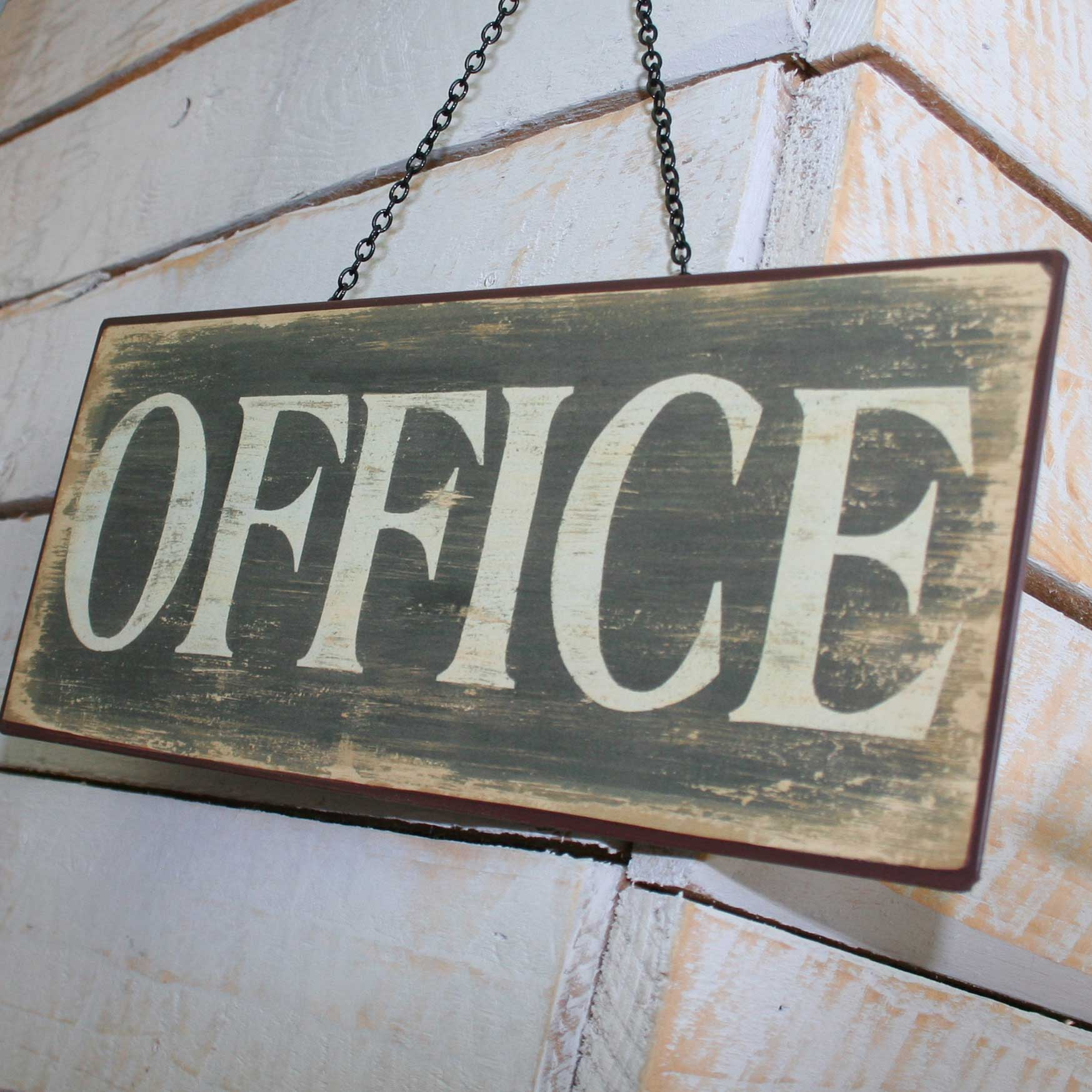 Picture of Gisela Graham Distressed Tin 'Office' Sign