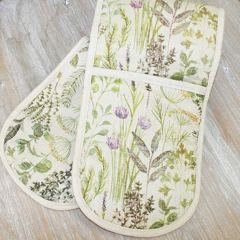 Picture of Gisela Graham 'Herbs' Double Oven Glove