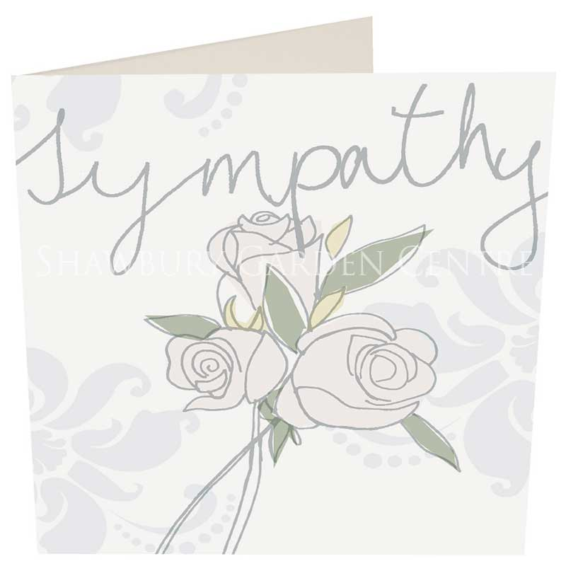 Picture of Caroline Gardner 'Sympathy' Embossed Roses Card