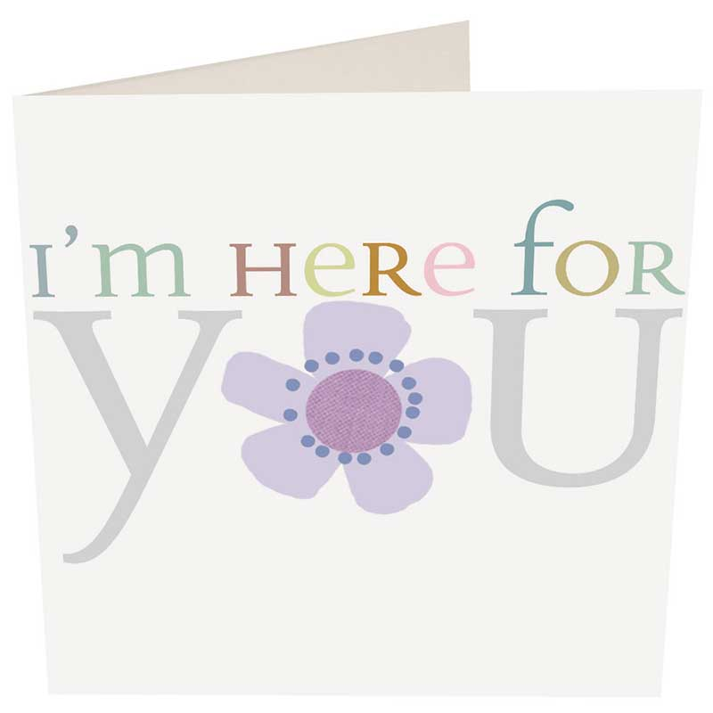 Picture of Caroline Gardner 'I'm Here For You' flower card