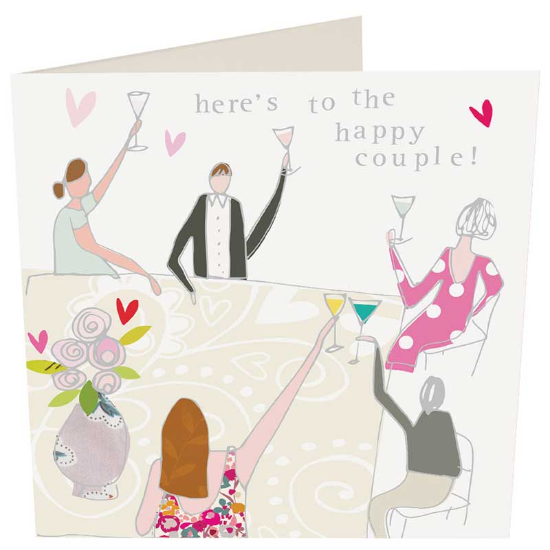 Picture of Caroline Gardner 'Here's To The Happy Couple' card