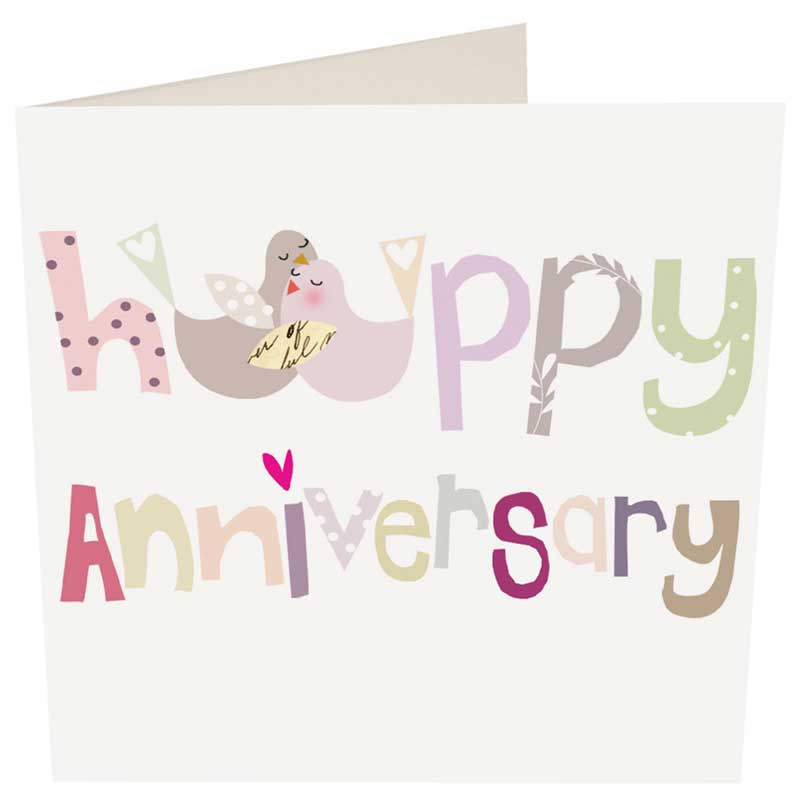 Picture of Caroline Gardner 'Happy Anniversary' Card
