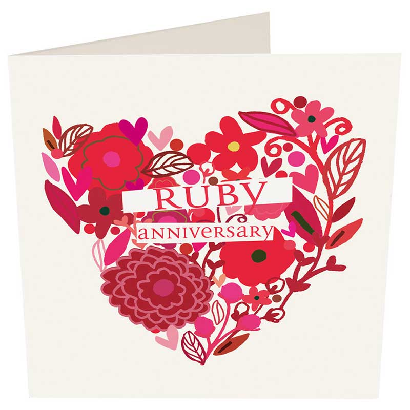 Picture of Caroline Gardner 'Ruby Anniversary' Card