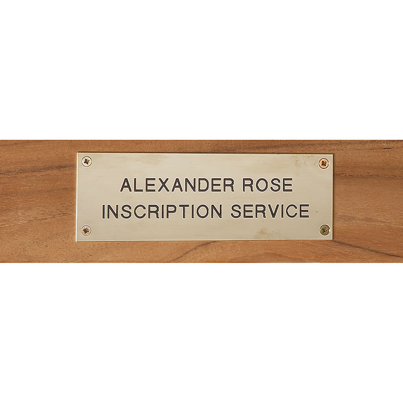 Picture of Alexander Rose Stainless Steel Plaque