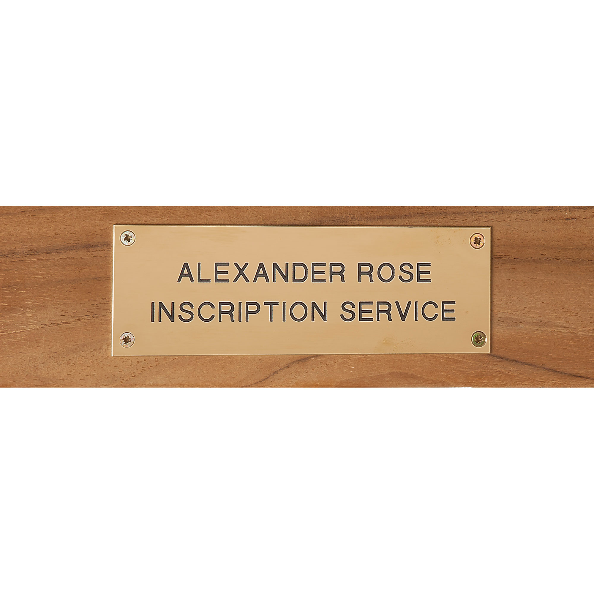 Picture of Alexander Rose Brass Plaque