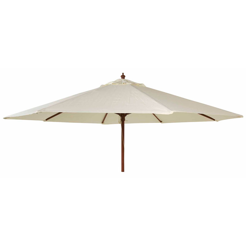 Picture of Alexander Rose Hardwood Round Parasol with Pulley