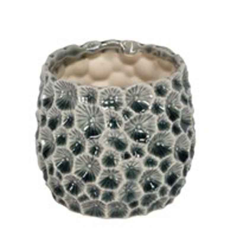 Picture of Gisela Graham Grey Ceramic Crator Pot cover