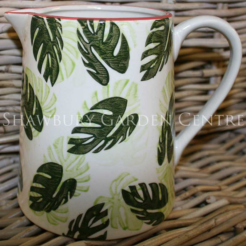 Picture of Gisela Graham Cheese Plant Leaf Ceramic Jug