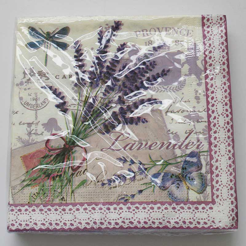 Picture of Gisela Graham Provence Lavender Paper Napkins