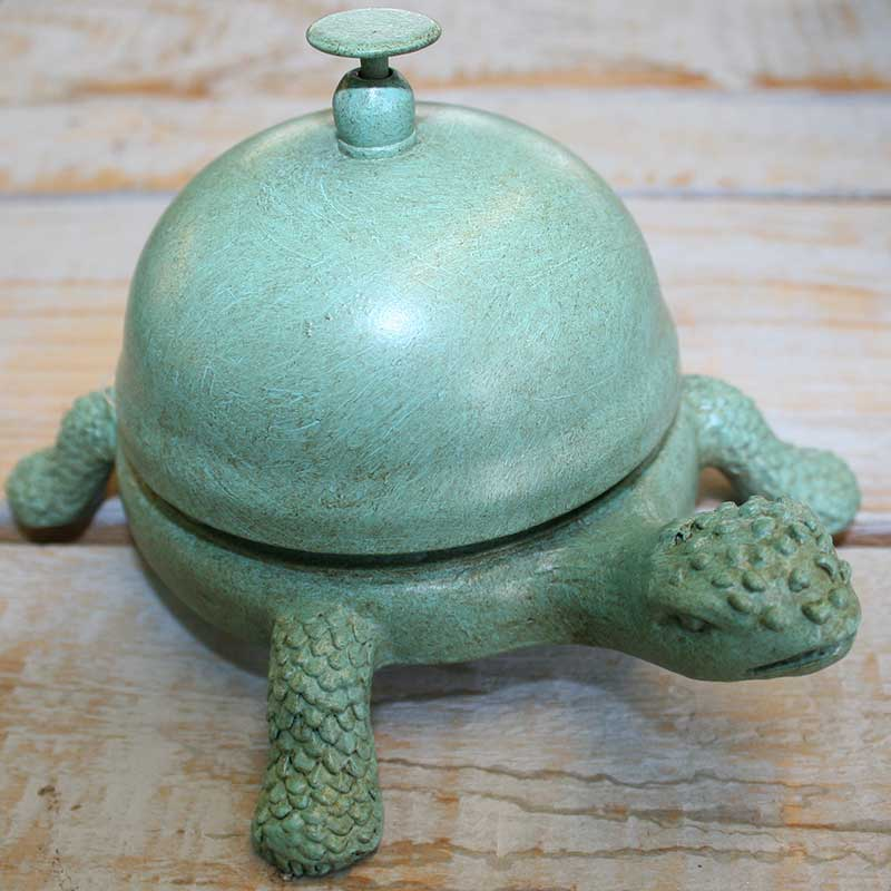 Picture of Gisela Graham Verdigris Metal Tortoise Bell
