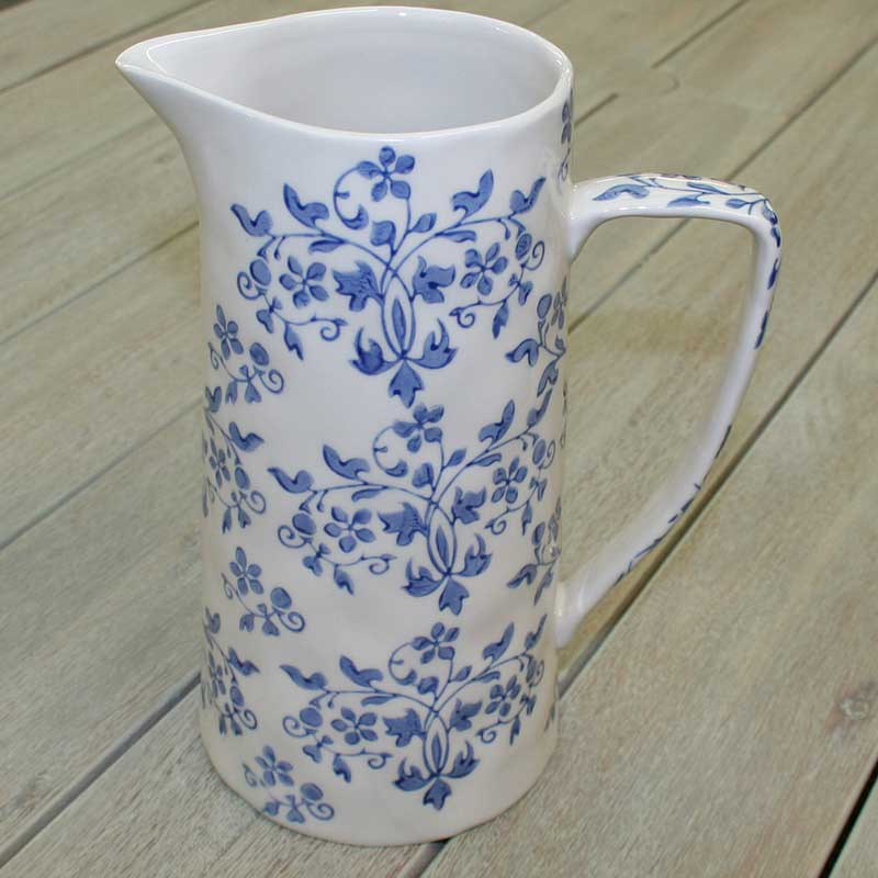 Picture of Gisela Graham 'Forget Me Not' Tall Ceramic Jug