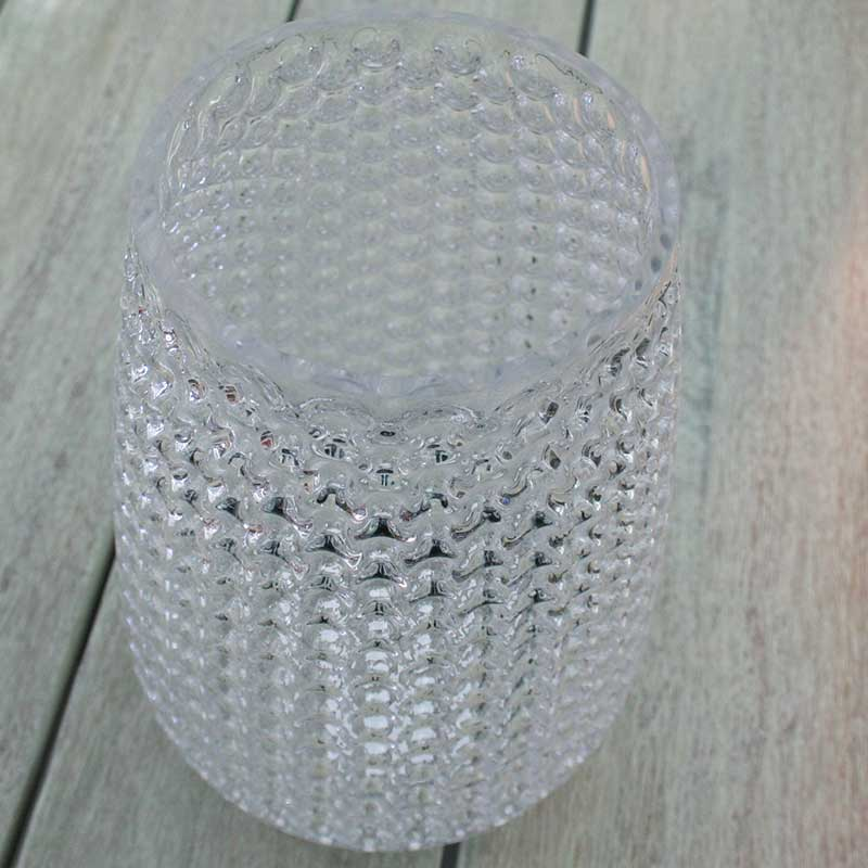 Picture of Gisela Graham Clear Glass Dimple Vase