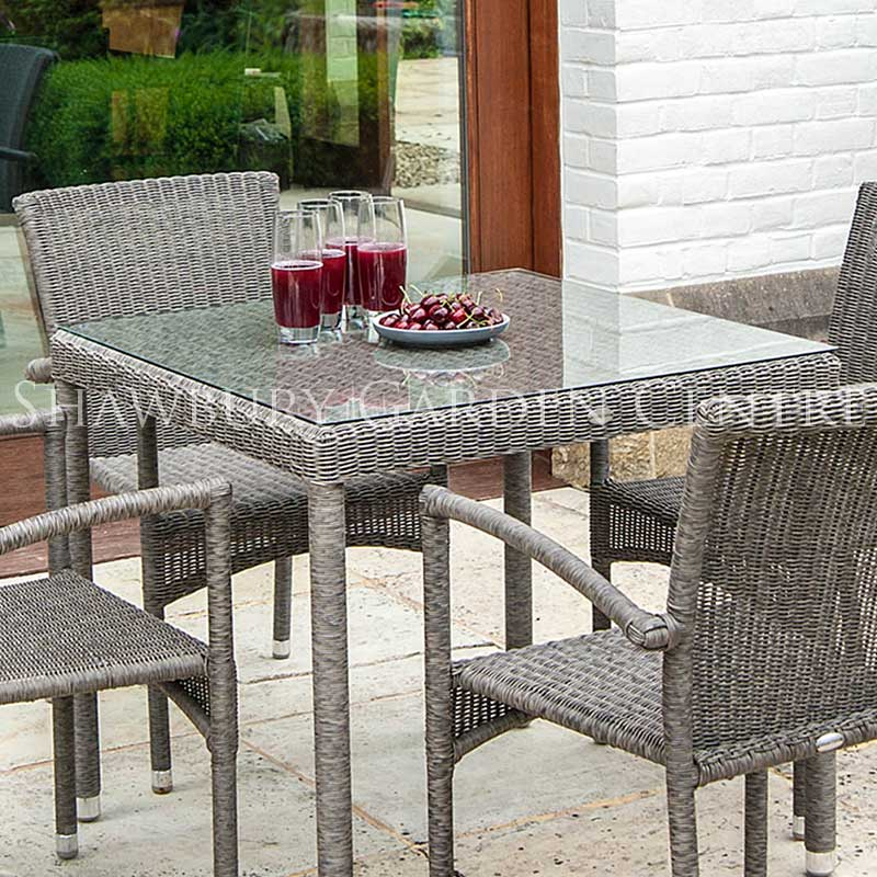 Picture of Alexander Rose Monte Carlo 4 Seater Garden Furniture Set with Square Table