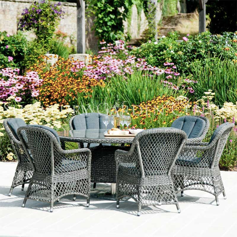 Picture of Alexander Rose Monte Carlo Open Weave Armchairs & 1.8m Table Garden Furniture Set