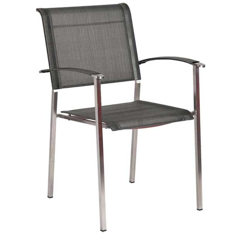 Picture of Alexander Rose Cologne Stacking Armchair: Graphite