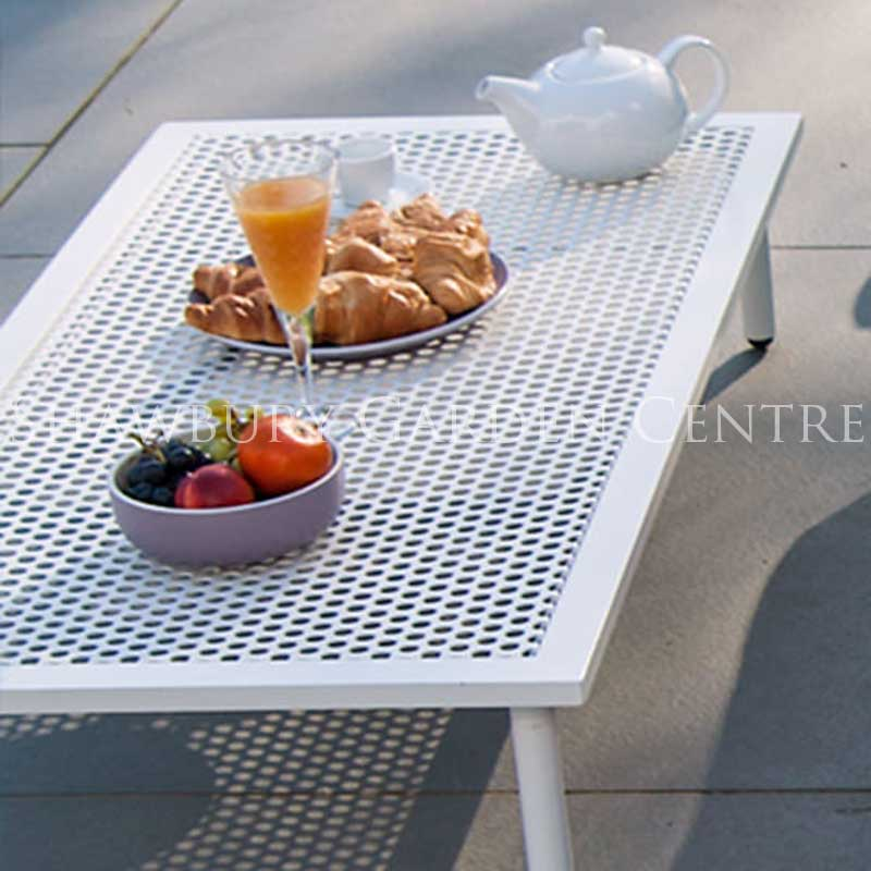 Picture of Alexander Rose Beach Lounge Coffee Table with Aluminium Top