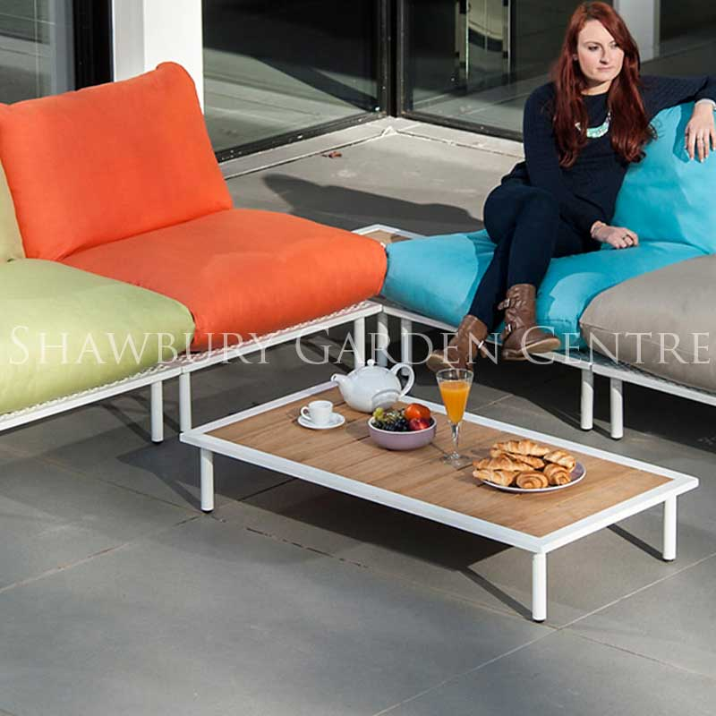 Picture of Alexander Rose Beach Lounge Coffee Table with Roble Top