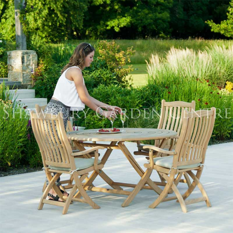 Picture of Alexander Rose Roble Bengal 4 Seater Folding Garden Furniture Set