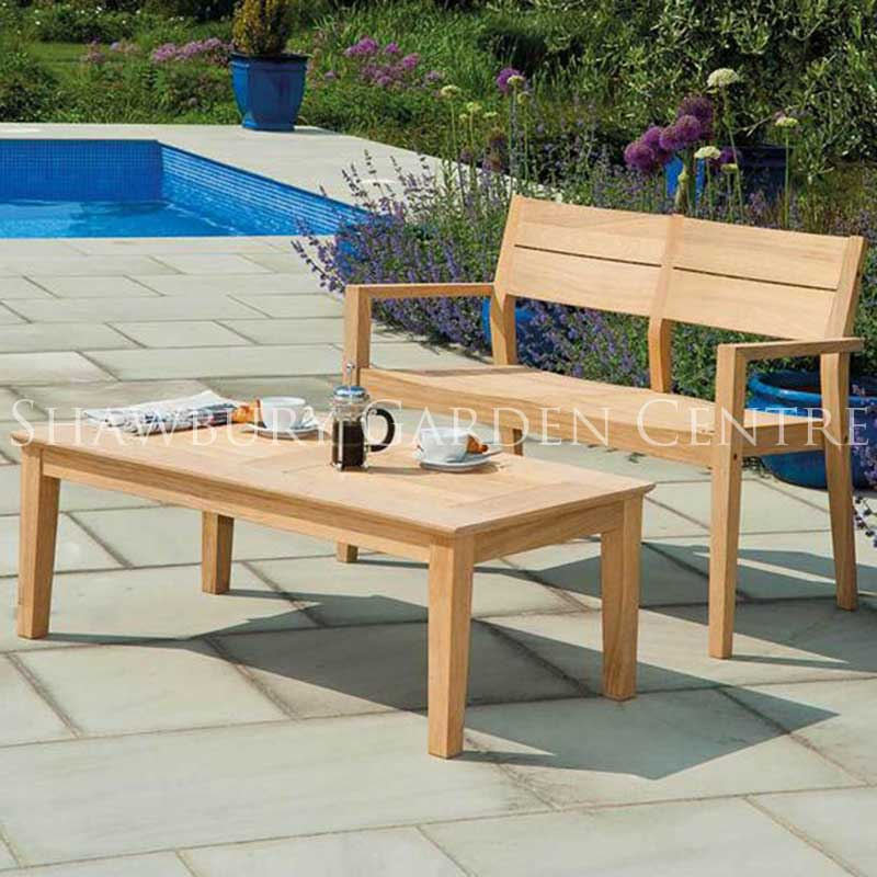 Picture of Alexander Rose Roble Two Seater Garden Bench & Coffee Table Set
