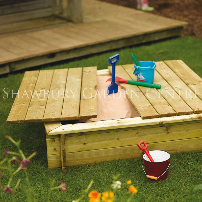 Picture of Rowlinson Wooden Sandpit with Lid